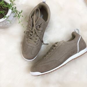 [JustFab] NWT Tan Faux Suede Sneaker